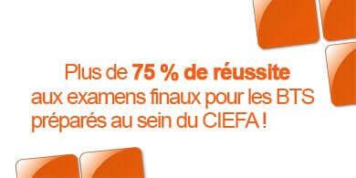 Plus de 75 % de réussite aux examens finaux pour les BTS préparés au sein du CIEFA !